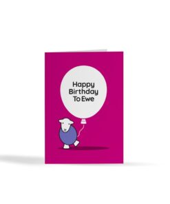Herdy Happy Birthday To Ewe Card - Image