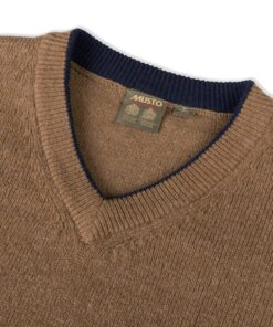 Musto Shooting V- Neck Knit - TOFFEE