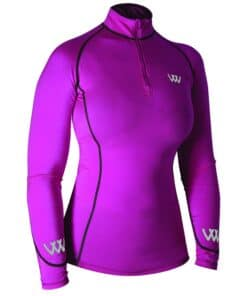 Woof Wear Performance Riding Shirt - BERRY