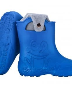 Leon Boots Froggy Warm Lined Childrens Wellies - Blue