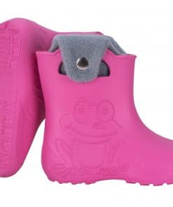 Leon Boots Froggy Warm Lined Childrens Wellies - Pink