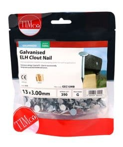 Galvanised Clout Nails - Extra Large Head - Image