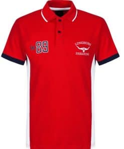 Longhorn Hereford Polo Shirt red - RED
