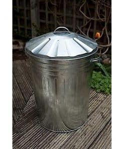 Galvanised Dustbin With Lid - Image
