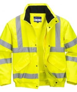 Hi-Vis Breathable Mesh Lined Jacket - Yellow