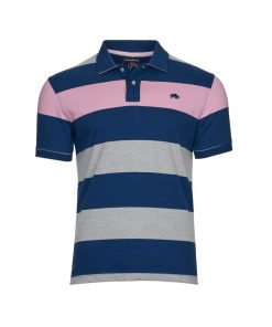 Jersey Contrast Panel Polo - Navy - NAVY