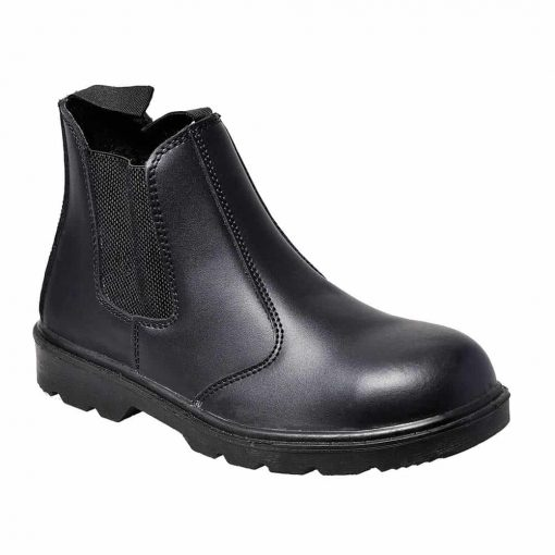 Traditional Styled Safety Dealer Boot - Black