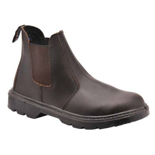 Traditional Styled Safety Dealer Boot - Brown