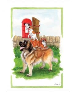Alison's Animals A Helping Hand Card - Image