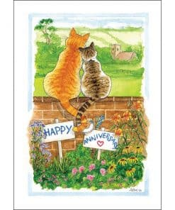 Alison's Animals Entwined Card - Image