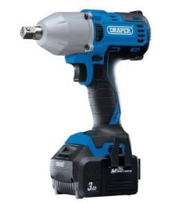 """Draper D20 20V Brushless 1/2"""" Mid-Torque Impact Wrench (400Nm) with 2 x 3.0Ah Batteries And Charger - Image"""