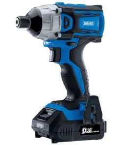 """Draper D20 20V Brushless 1/4"""" Impact Driver with 2 x 2.0Ah Batteries and Charger (180Nm) - Image"""
