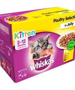Nestle Whiskas Kitten Poultry Selection In Jelly Pouches - Image