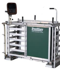 Allflex/Prattley right-hand manual weigh crate with 600mm load bar set - Image