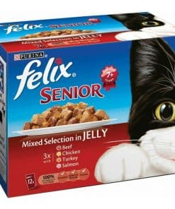 Nestle Felix Senior Mixed Selection In Jelly Pouches - Image