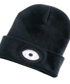 Draper Beanie Hat with Rechargable Torch 1W 100 Lumes - One Size - Black - Image