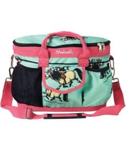 Hy Equestrian Thelwell Collection Grooming Bag - MINT/PINK