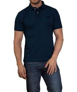 Raging Bull Mens Embroidered Marl Polo - NAVY