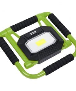 Sealey Rechargeable Portable Fold Flat Floodlight 10W COB LED Lithium-ion - Image