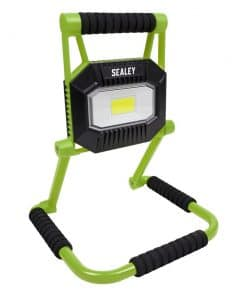 Sealey Rechargeable Portable Fold Flat Floodlight 20W COB LED Lithium-ion - Image
